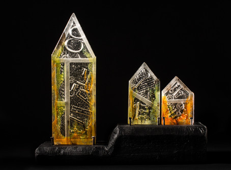 """London Ablaze"", The Glass Sellers' Great Fire Schools Project.