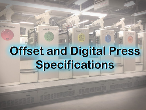 Offset & Digital Press Specifications