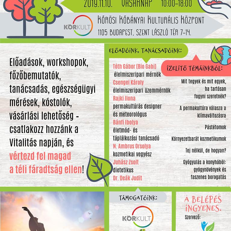 Vitalitás Napja - Fenntartható egészség