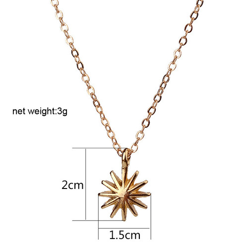 star hand necklace petite 14k gold enameled bridesmaid gift and gift