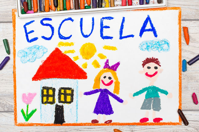 Photo of  colorful drawing_ Spanish word