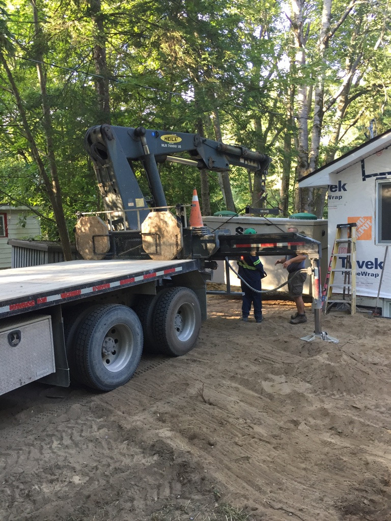 Septic tank placement