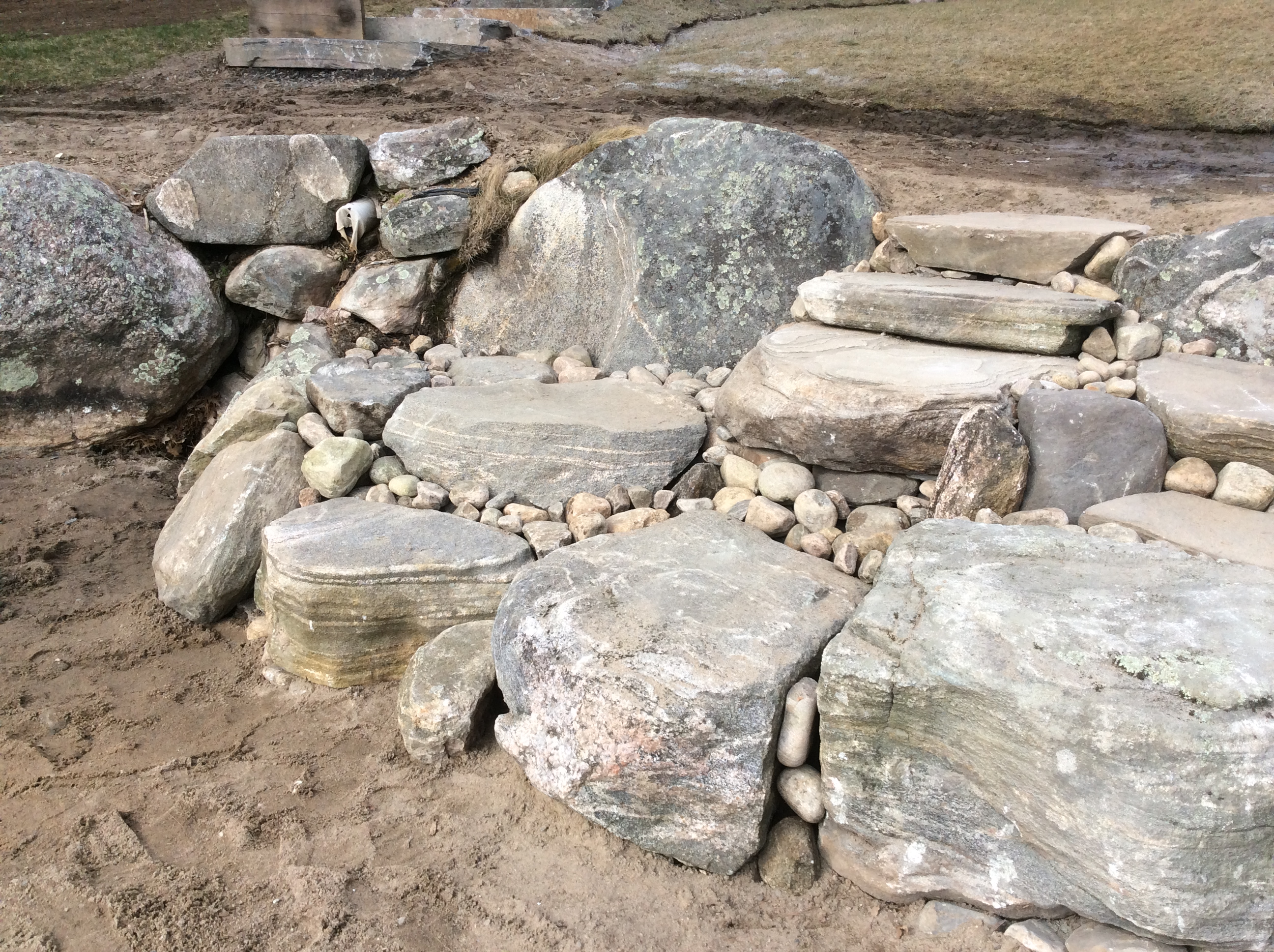 Steps from Natural Muskoka Granite Boulders
