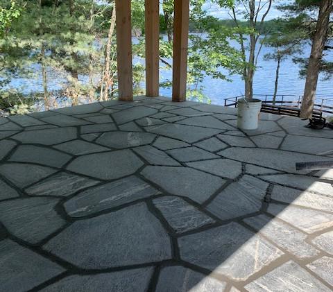 Rob Muskoka granite flag stone steps and