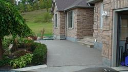 Concrete Patio and Natural Stone