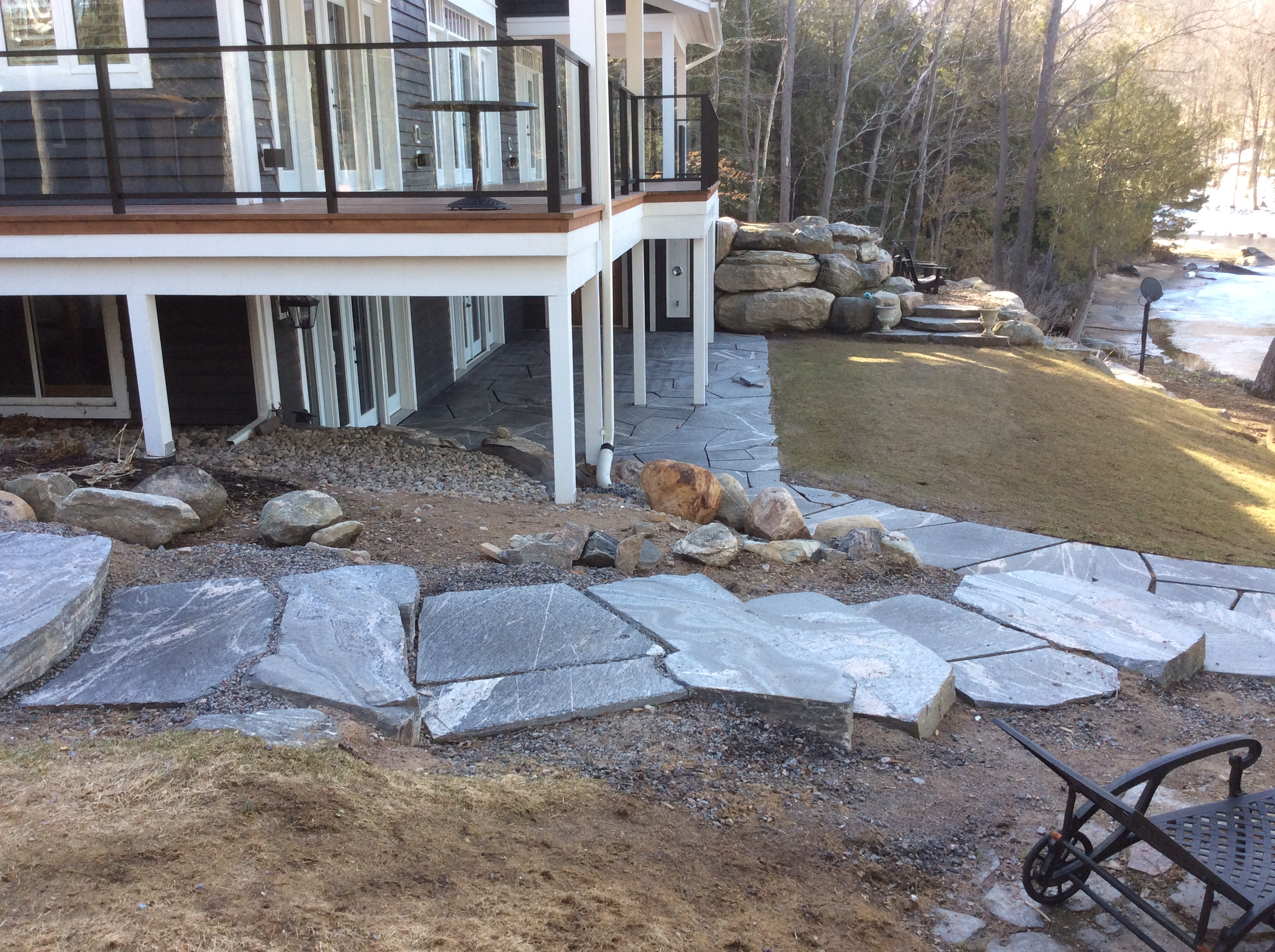 Muskoka Granite Steps & Walkway