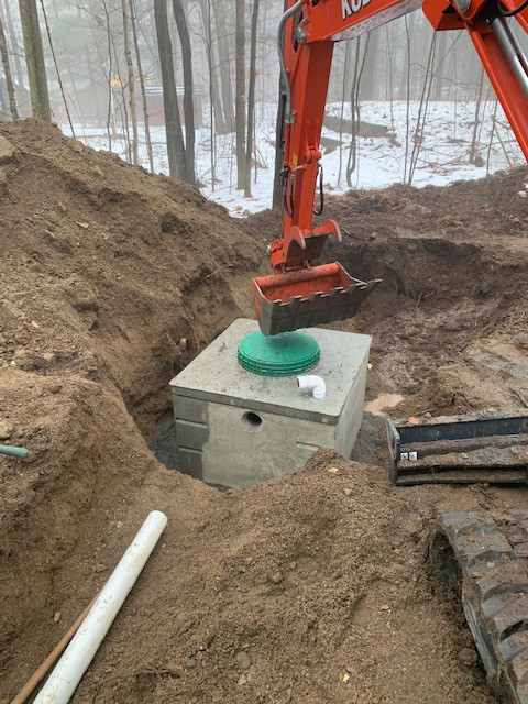 Sunset. Bay filter bed septic system IMG