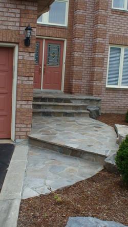 Limestone walkway and steps