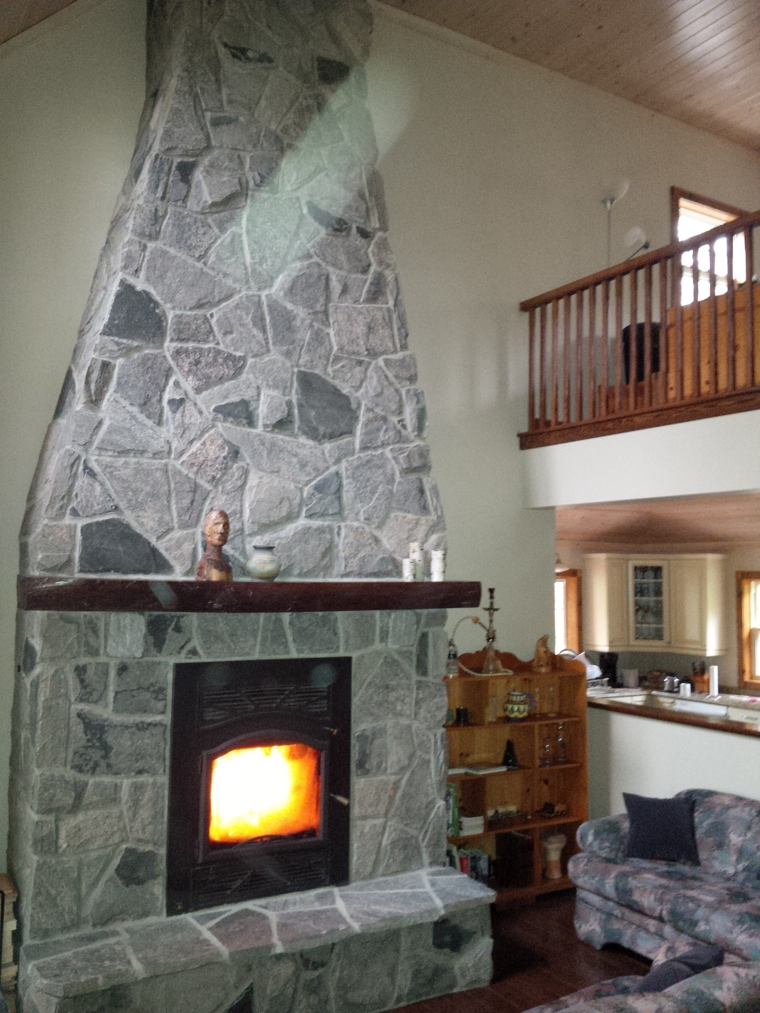 Muskoka Granite Fireplace