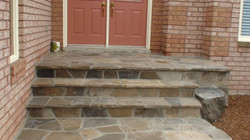 Limestone patio and Steps