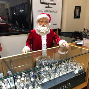 Santa at the Watch Case