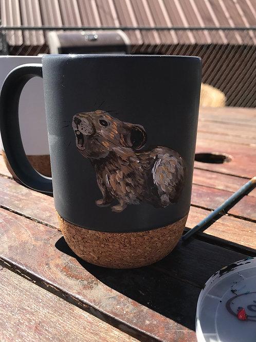 Yelling Pika To Go Mug