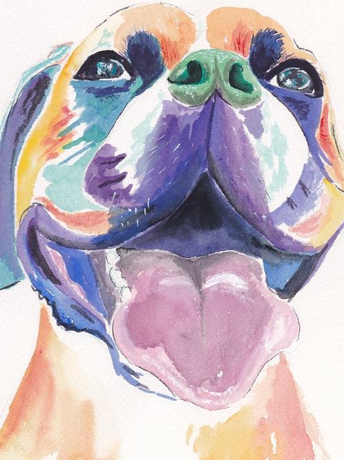 Large Gouache Pet Portrait