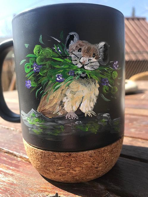 Pika with Flowers To Go Mug