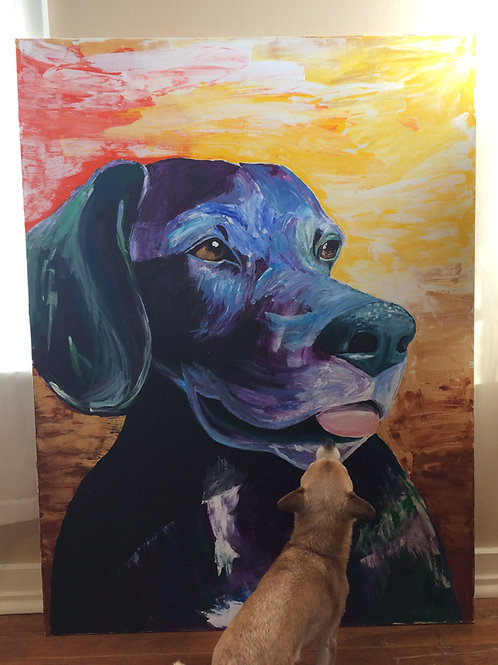 Jumbo Acrylic Pet Portrait