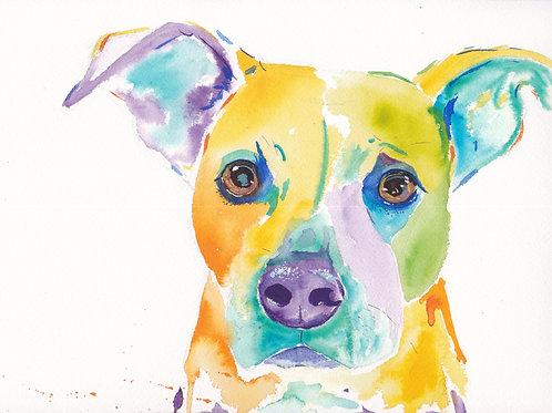 Medium Gouache Pet Portrait