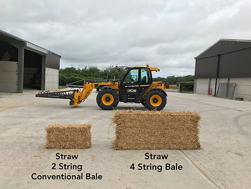 Straw 2 String Conventional Bale Straw 4 String Bale