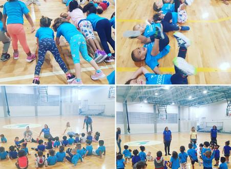 El ejercicio es parte integral del currículo del Centro de Desarrollo Preescolar