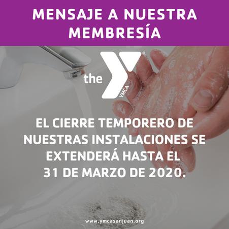 YMCA de San Juan anuncia el cierre temporero de sus instalaciones hasta el 31 de marzo de 2020