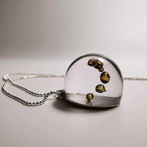 Clear Gold Necklace