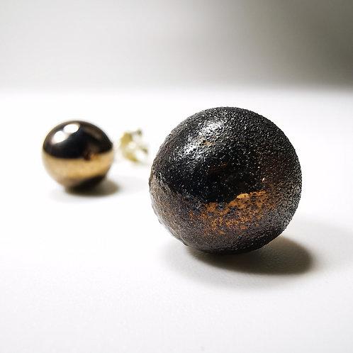 Mars Moons Silver Stud Earrings