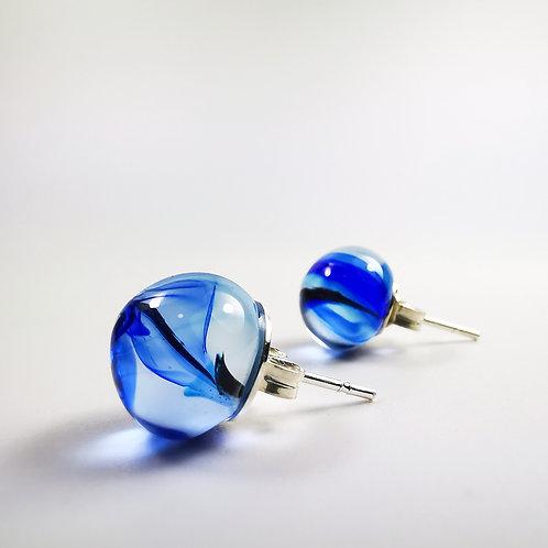 Blue Ink Drops 02 Earrings
