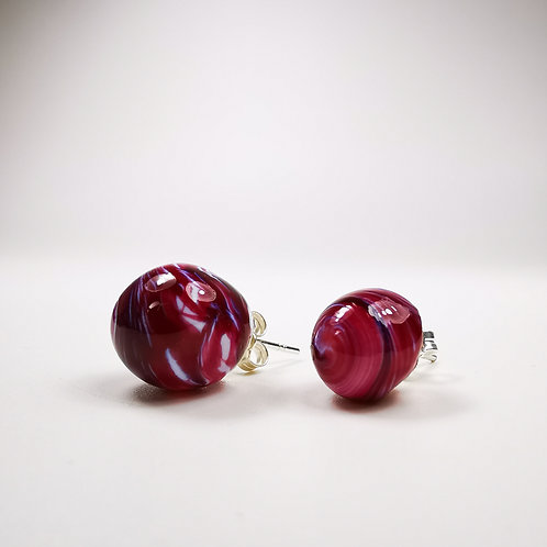 White Rose Berry Earings