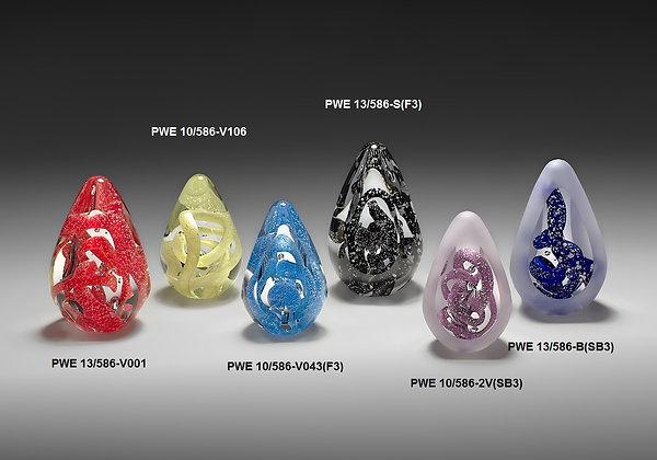 PWE 586 Spalvota stiklo skulptūra, verslo dovanos, stiklo kūrinys, stiklo dirbiniai, stiklo suvenyrai, glasremis