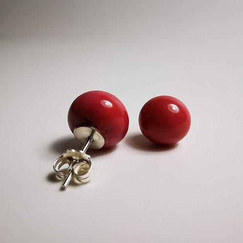 Red Rose Berry Earings
