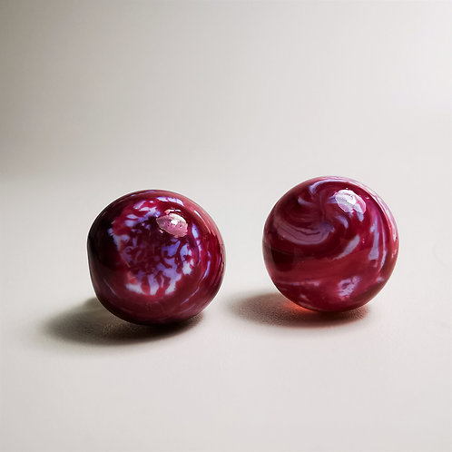 Rose Milk Berry Earings