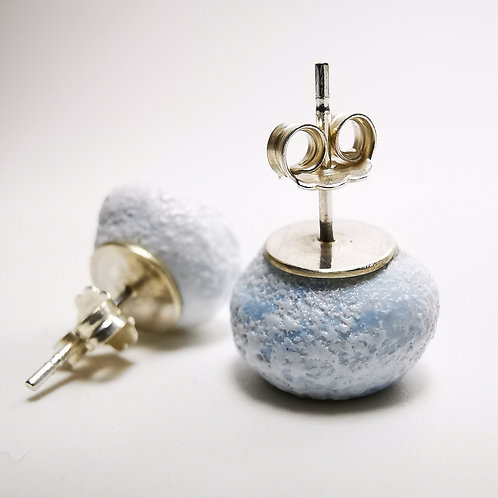 Whirpool Galaxy Stud Silver Earrings
