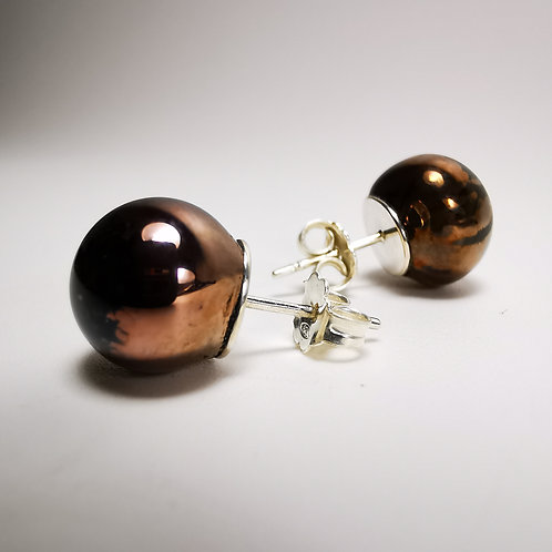 Brown Dwarf Silver Stud Earrings