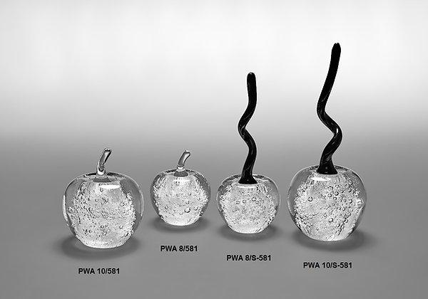 Stiklo suvenyras, stiklinis obuolys, stiklo skulptūra, verslo dovana, stiklo kūrinys, stiklo dirbiniai, glasremis,