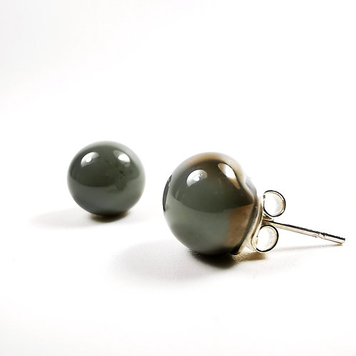 Grey and Copper Shade Earrings
