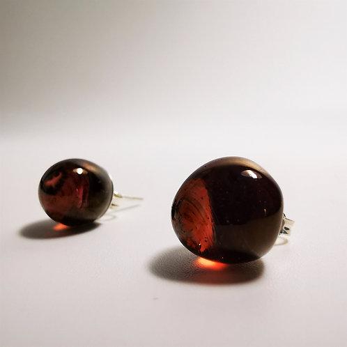 Gold Rose Berry Earings
