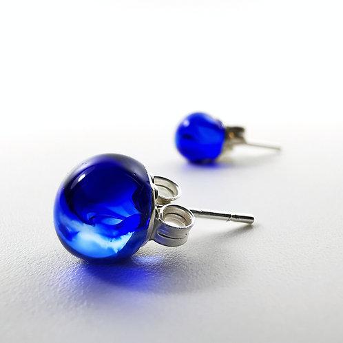 Blue Ink Drops Earrings