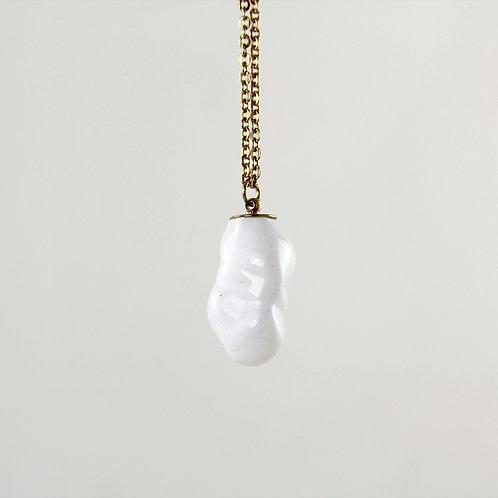 White Goldstar Glass Gold Necklace