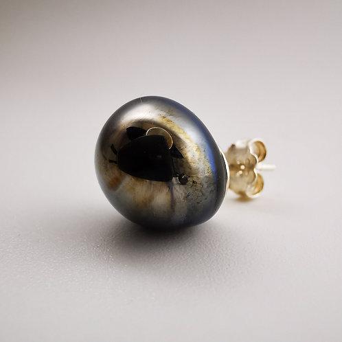 Blue Venus Silver Stud Earrings
