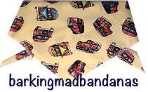 VW Camper, Dog Bandana, UK Dog Clothing, Cars