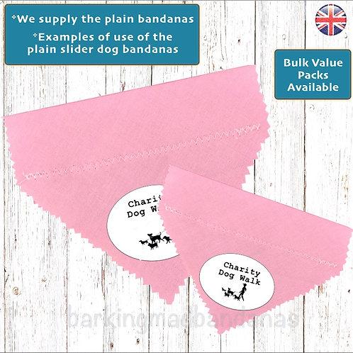 Pink Plain Bandanas, Advertising Dog Bandanas, Plain Dog Bandanas UK, Promoting Dog Bandanas UK, Charity Dog Walk Dog Bandana