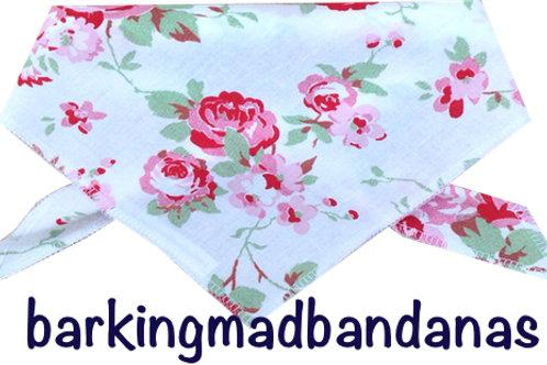 Dog Bandana -Cath Kidson Style White