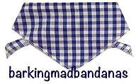 Blue Gingham Check Dog Bandana, Dog Clothing, Dog Gifts UK
