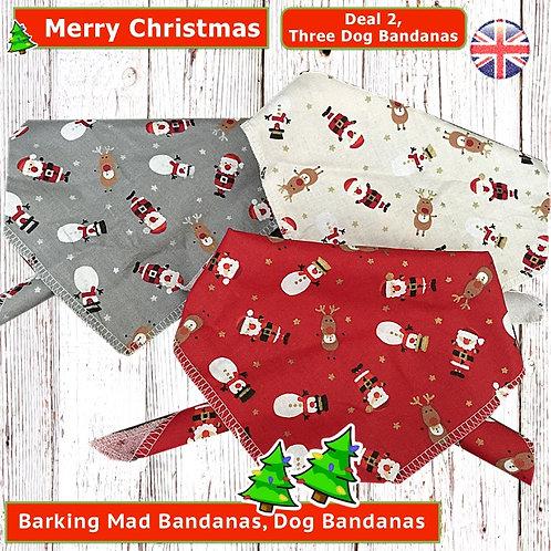 Christmas Dog Bandanas, Christmas Dog Deals, Christmas, Red, Santa, Christmas Dog Outfits