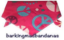 Pink, Peace Cotton,  dog bandana, Dog Breeds Dog gift, dog clothing, dog accessories