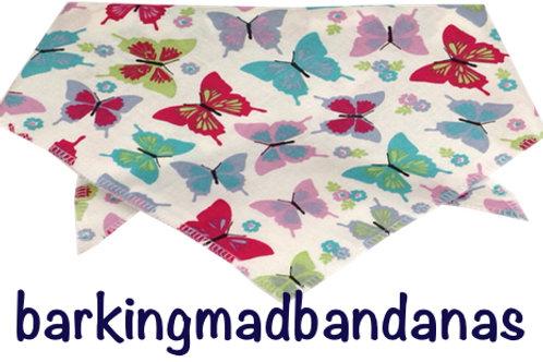 Multi Butterfly luxury dog bandanas, dog bandana, UK Dog Grooming supplies