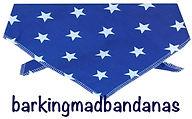 Blue Dog Bandana, Cotton dog bandana, stars, dog clothing, dogs, uk