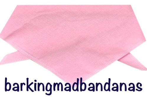 X Large, Plain Pink Bandanas, Advertising Bandanas, Promoting, Wholesale Dog Neck Scarves