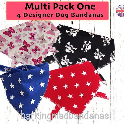 Multi Pack Dog Bandana Deals, Multi Pack Bandanas UK, Packs of Bandanas UK, Funky Bandana Deals UK, Dog Bandana Deals, UK