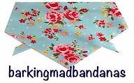 Pink Spots,Dog Bandana, UK Dog Bandanas, Floral Dog Bandanas, Dog Clothing