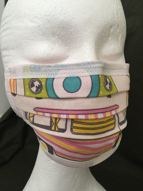 Campervan Face Masks, Cotton, Reusable, Washable, Face Masks, UK Clothing, Designer